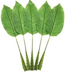 Warmter 5Pcs Tropical Leaves,Fake Artificial Banana ... - Amazon.com
