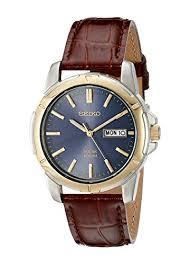 seiko men s sne102 stainless steel solar watch brown leather seiko men s sne102 stainless steel solar watch brown leather strap seiko amazon co uk watches