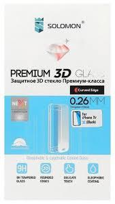 <b>Защитное стекло Solomon</b> Premium 3D <b>Glass</b> для Apple iPhone XR