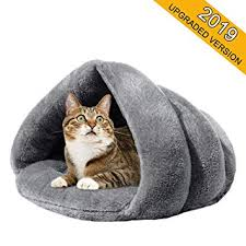 Amazon.com : Soft Fleece Self-Warming <b>Cat Bed</b> Warm <b>Sleeping</b> ...