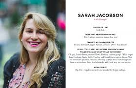 NYC Advertising Copywriter Sarah Jacobson   The Everygirl