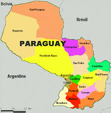 Resultado de imagem para mapa do paraguai