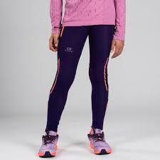 <b>Длинные тайтсы</b> для легкой атлетики для девочек Kiprun <b>KALENJI</b>