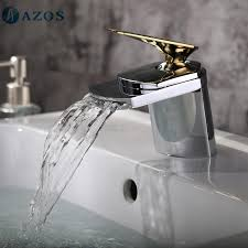 bathroom basin faucets nickel brush chrome waterfall spout deck mounted single handle hot cold water toilet furnitures mppb004cg bathroom basin furniture