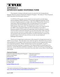 appendix c interview guide response form how proposed arff page 88