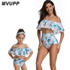 Online Shop <b>mother</b> and <b>daughter swimsuit mommy</b> and me ...