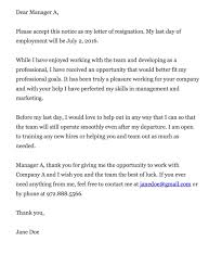 cover letter resignation letter week notice letter of cover letter resign from a job resignation letter letter sample and letters the