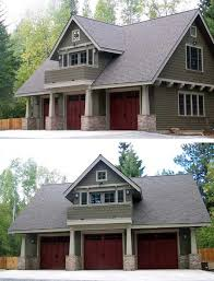 Double Duty  Car Garage Cottage w  Living Quarters  HQ Plans    Build a simple yet unique looking home  out compromising your comfort