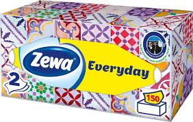 <b>Салфетки</b> Бумажные Косметические <b>Zewa</b> Everyday, 2 слоя, 150 ...