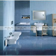 blue bathroom tile ideas: