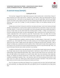 contrast essay amp outline sample