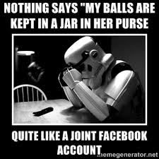 """nothing says """"my balls are kept in a jar in her purse quite like a ... via Relatably.com"""