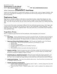 hamlet final essay 2012 13