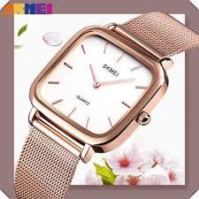 <b>SKMEI Simple Women</b> Watches <b>Fashion</b> Flower Shape Dial Ladies ...