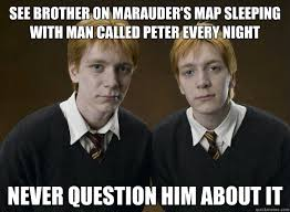 Open-minded weasley twins memes | quickmeme via Relatably.com