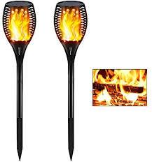 Gold Armour <b>2 Pack Solar</b> Lights Upgraded - Flickering <b>Flames</b> ...
