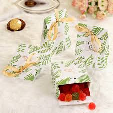 <b>OurWarm 10pcs</b> Leaf Candy Boxes Bomboniera Gift Boxes <b>Birthday</b> ...