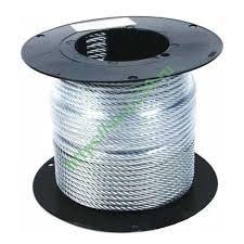 Купить <b>Трос 1</b>,<b>5мм</b> стальной оцинкованный <b>DIN3055</b> (500м ...