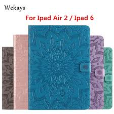 <b>Wekays For Apple IPad</b> Air 2 IPad 6 Sun Flower Leather Smart ...