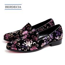 2018 <b>New Men Suede Flats</b> Shoes Flower Party Wedding ...