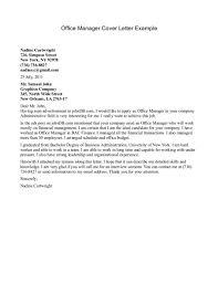 Office Manager Cover Letter Gplusnick