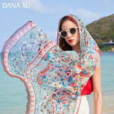 2019 <b>Silk</b> Long <b>Scarf Luxury Brand Women</b> New Design Beach ...