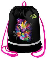 Berlingo <b>Мешок для обуви</b> Neon Cat (MS09420) — купить по ...