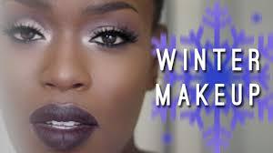 winter makeup dark skin dark lips