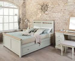 Lyon Oak Bedroom Furniture Lyon Painted Oak Bed Frame With Storage Snuginteriors