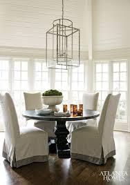 dining table parson chairs interior: slipcovered parsons dining chairs atlanta homes
