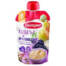 <b>Semper Пюре</b> с кашей <b>фруктовое</b> груша, чернослив со злаками 6 ...