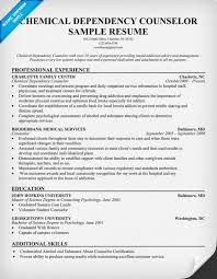 resume examples chemical dependency counselor httpresumecompanioncom nurse chemical dependency counselor resume