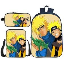 3Pcs/Set Hot Sale <b>3D Printing</b> Naruto Children Shoulder Backpacks ...
