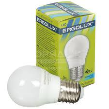 <b>Лампа</b> светодиодная Ergolux <b>LED</b>-<b>G45</b>-7W, 7 Вт, E27, холодный ...
