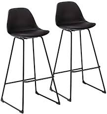 WOLTU <b>Bar Stools</b> Set of <b>4 PCS</b> Soft Faux Leather Seat <b>Bar Chairs</b> ...