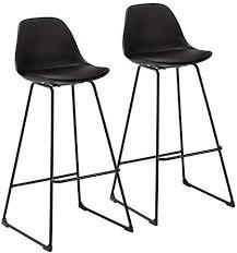 WOLTU <b>Bar Stools</b> Set of <b>4 PCS</b> Soft Faux Leather Seat <b>Bar Chairs</b> ...
