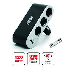 <b>Разветвитель прикуривателя</b> 12/24V (на <b>3</b> выхода + USB) AVS ...