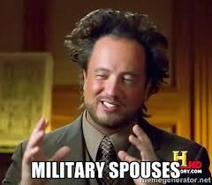 Military spouses - Giorgio A Tsoukalos Hair | Meme Generator via Relatably.com