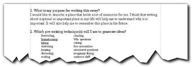 writing exercise  planning think sheet now that you have decided on a pre writing technique or more than one it is time to actually do your pre writing this is your opportunity to put your