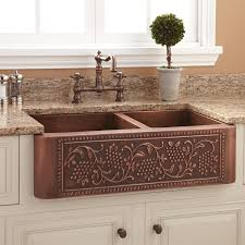 stainless steel sink racks ampquot whitehaven: iron   l copper farmhouse sink iron