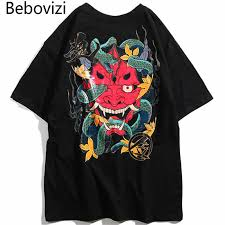 <b>Bebovizi</b> Japanese Streetwear Sweatshirt <b>Men</b> Demon Hoodie <b>2019</b> ...
