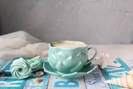<b>Чашка</b> ручной работы из <b>фарфора</b> Лотос <b>мятный</b> – купить на ...