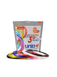 <b>Набор</b> пластика <b>UNID</b> для <b>3D ручек</b>: PRO-6 (по 10м. 6 цветов в ...