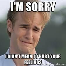 I'm sorry I didn't mean to hurt your feelings - Dawson's Creek ... via Relatably.com