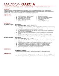 unforgettable receptionist resume examples to stand out    receptionist resume sample