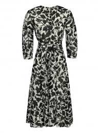 <b>Платье</b>-макси с разрезом и драпировкой из ткани с принтом ...
