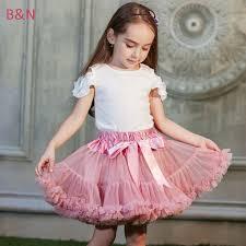 <b>Buenos Ninos Girls</b> Tutu Skirt Ruffle Fluffy Chiffon Soft Fabric ...