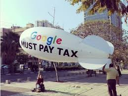 a politician is flying a blimp branching google tel aviv office