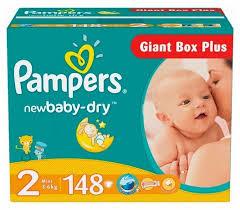 <b>Pampers подгузники New</b> Baby-Dry 2 (3-6 кг) 148 шт. — купить по ...