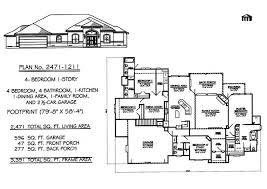 Bedroom  Story House Plans     square feet Bedroom  Story House Plans